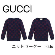 GUCCI Children's GG cotton lame jumper キッズニット
