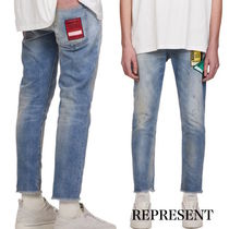PATCH RELAXED DENIM - BLUE【REPRESENT】