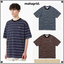 MAHAGRIDの5 COLORS STRIPED TEE 全3色