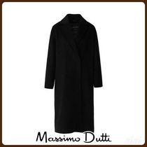 MassimoDutti♪HAND-TAILORED BLACK QUILTED WOOL COAT