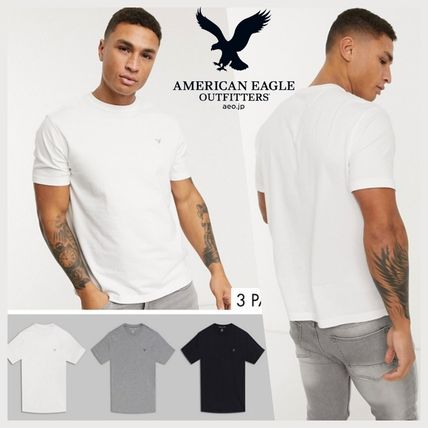 American Eagle Outfitters Tシャツ・カットソー AMERICAN EAGLE*Running TrailロゴTシャツ*Black*送料込