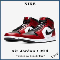 "【Nike】人気 完売必須 Air Jordan 1 Mid ""Chicago Black toe"""
