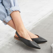 "& Other Stories(アンドアザーストーリーズ) サンダル・ミュール ""& Other Stories"" Pointed Leather Ballerina Flats Black"