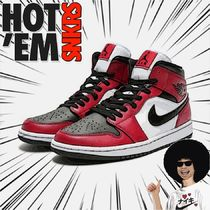 【ナイキ】AIR JORDAN 1 MID 'CHICAGO BLACK TOE'