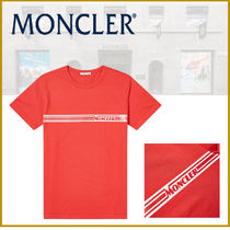 ★新作★モンクレール MONCLER CHEST LOGO STRIPE TEE RED