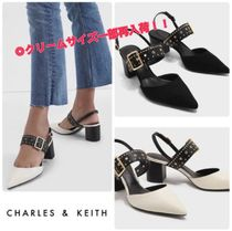 ★CHARLES & KEITH★Studded Pointed Slingbacks/送料込