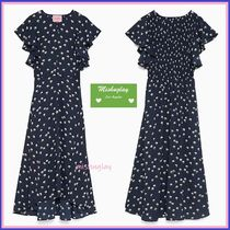 【kate spade】デイジー柄♪daisy toss flutter sleeve dress ★