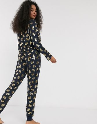ASOS ルームウェア・パジャマ ASOS/Chelsea Peers/エレファントパジャマセット(送料込)(3)