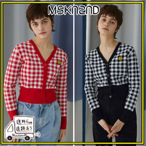【MSKN2ND】SM]E PATCH FEMALE CROP CARDIGAN 全2色