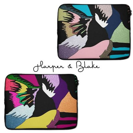 【Harper&Blake】Abstract Feathers*Laptop Sleeve