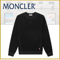 ★新作★モンクレール MONCLER LOGO CREW SWEAT BLACK