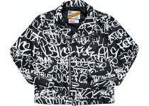 Supreme CDG Schott Painted Perfecto Leather Jacket FW18
