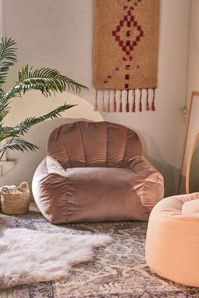 Urban Outfitters 椅子・チェア Urban Outfitters  Holly Lounge Chair ベロア クッション 全4色(6)