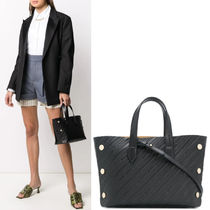 G679 MINI BOND SHOPPER IN GIVENCHY CHAIN EMBOSSED LEATHER