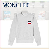 ★新作★モンクレール MONCLER TENNIS LOGO SWEAT GREY