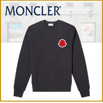 ★新作★モンクレール MONCLER PATCH LOGO CREW SWEAT NAVY