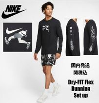 NIKE★国内発送★Dry-FIT★ロングTシャツ&ハーパンセットアップ