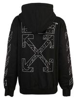 OFF-WHITE --- PUZZLE ARROWS ZIP-UP HOODIE ジップアップ 黒