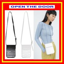 [OPEN THE DOOR] crocodile leather cross bag  (全2色)/追跡付
