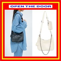 [OPEN THE DOOR] pouch set leather multi bag  (全2色)/追跡付