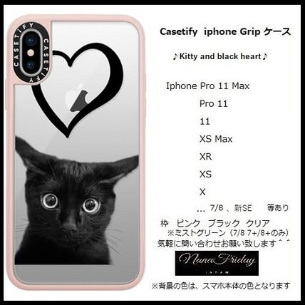 Casetify スマホケース・テックアクセサリー Casetify iphone Grip case♪Kitty and black heart♪