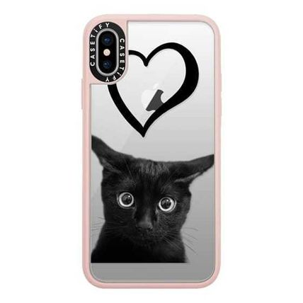 Casetify スマホケース・テックアクセサリー Casetify iphone Grip case♪Kitty and black heart♪(2)