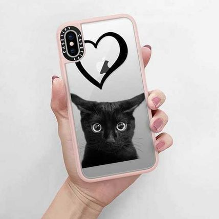 Casetify スマホケース・テックアクセサリー Casetify iphone Grip case♪Kitty and black heart♪(5)