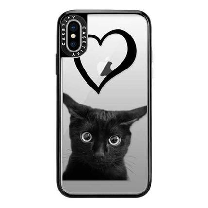 Casetify スマホケース・テックアクセサリー Casetify iphone Grip case♪Kitty and black heart♪(6)