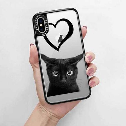 Casetify スマホケース・テックアクセサリー Casetify iphone Grip case♪Kitty and black heart♪(9)