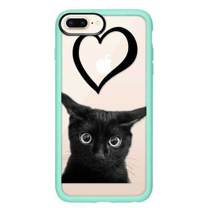 Casetify スマホケース・テックアクセサリー Casetify iphone Grip case♪Kitty and black heart♪(15)