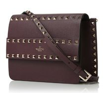 VALENTINO★rock stud  cross body burgundy【関税込EMS謝恩品】