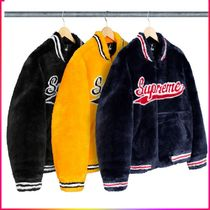 SS20 Week1 Supreme Faux Fur Varsity Jacket ファー ジャケット