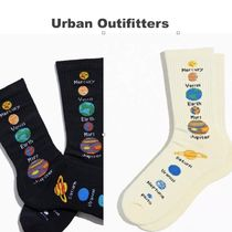 Urban Outfitters(アーバンアウトフィッターズ) 靴下・ソックス 【Urban Outfitters】☆個性的な惑星柄☆ Planets Crew Sock