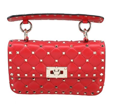 VALENTINO★Rock studs spike small bag red 謝恩品EMS関税込