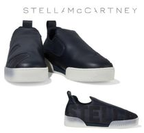STELLA McCARTNEY☆Embossed faux leather and suede スリッポン