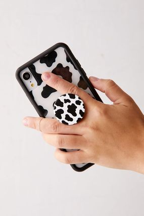 Urban Outfitters スマホケース・テックアクセサリー 国内発送☆【Urban Outfitters】牛柄 スマホ グリップ スタンド(3)