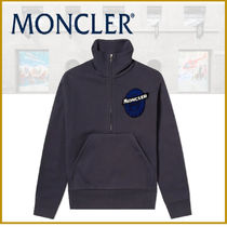 ★新作★モンクレール MONCLER HALF ZIP PATCH LOGO SWEAT NAVY