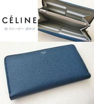 【国内発送】CELINE☆Large Zipped Multifunction長財布 紺