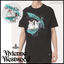 Vivienne Westwood*CAT&WORLDS ENDロゴ プリント BOXY Tシャツ