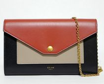 CELINE★large flap on chain wallet fox red 旧ロゴ(謝恩品EMS)