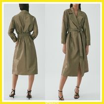 Massimo Dutti LIMITED EDITION SHIMMER FINISH TRENCH COAT