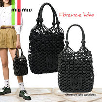 関税込み国内発送 MiuMiu Macrame Nappa leather handbag