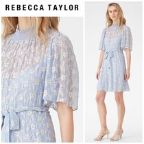 【REBECCA TAYLOR】●セール●FLORAL VINE EMBROIDERED DRESS