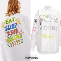 国内発 VETEMENTS HARDCORE HAPPINESS OVERSIZE SHIRT 送関込み