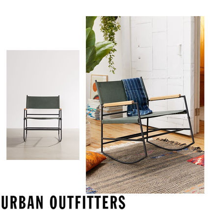 Urban Outfitters 椅子・チェア Urban Outfitters  Hyde レザー ロッキングチェアー