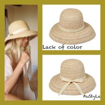 ■Lack of color■Bloom Raffia Hat■