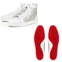Christian Louboutin Louis Men's Flat パテントCL ハイカット