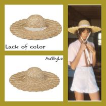■Lack of color■Scalloped Dolce Hat■つば広ハット