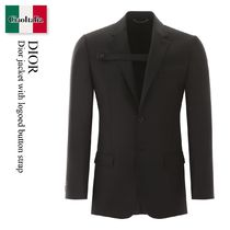 Dior jacket with logoed button strap