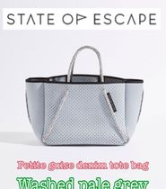 State of Escape◇Petite Guise デニムトート/pale grey/追跡込